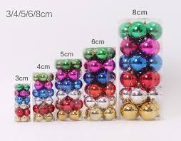 Outdoor Christmas Decorations Balls by 3 4 5 6 8cm Plastic Christmas Tree Decoration Ball Christmas Tree