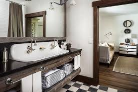 Country Vanity Bathroom Country Style Bathroom With Reclaimed Wood Sink Vanity With Trough