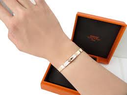 hermes bracelet images Love new authentic hermes kelly rose gold bangle bracelet half JPG