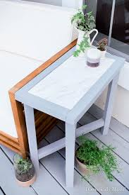 Kitchen Side Table Outdoor Marble Side Table Domestically Blissful