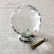 Bedroom Furniture Hardware Pulls 2x40mm Clear Round Glass Cabinet Drawer Crystal Knobs And Handles
