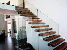 Stairwell Banister Stairs Modern Stair Railing For Cool Interior Staircase Design
