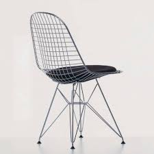 chaise eames vitra contemporary chair with removable cushion wire by charles