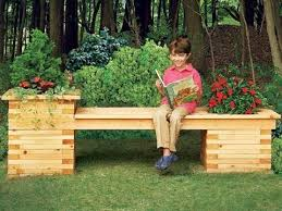 Deck Planters And Benches - build a bench planter combo for your yard http www