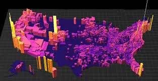 cheapest housing in us this 3d map shows the price per square foot of u s housing markets