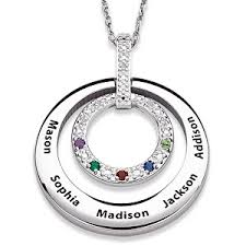 birthstone mothers necklace mothers necklace with kids names thrill this year