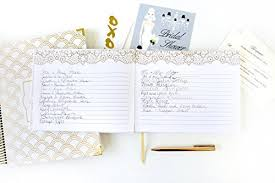 guest sign in book bloom daily planners wedding guest book 120 pages guest sign in