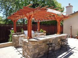 kitchen stunning outdoor kitchen gazebo small pergola natural