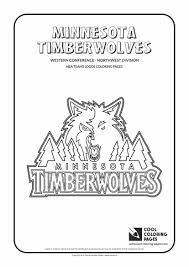 minnesota timberwolves u2013 nba basketball teams logos coloring pages