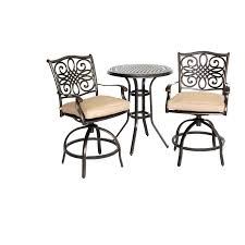 3 Piece Patio Set Traditions 3 Piece High Bistro Set Traddn3pcsw Br