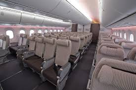 Boeing 787 Dreamliner Interior Japan Airlines To Take Delivery Of Their First 787 Dreamliner On