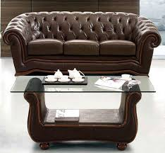 Leather Sofa Italian Traditional Brown Italian Leather Sofa Prime Classic Design