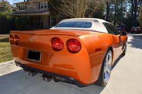 atomic orange corvette convertible for sale 21k low convertible z51 3lt atomic orange interior