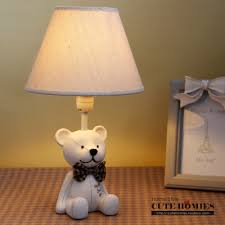teddy bear lamps children u0027s bedroom decor resin table lamp in desk