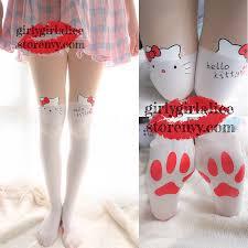 cute stockings girly cute kitty pad stockings kawaii cat footprints hose girly