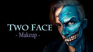 Batman Halloween Makeup by Two Face Makeup Batman Enemy Dos Cara Makeup Tutorial Youtube