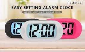 amazon com easy to set plumeet large digital lcd travel alarm