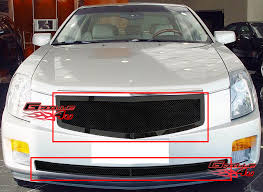 black 2004 cadillac cts fits 03 07 cadillac cts black mesh grille combo ebay
