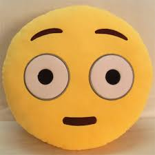 new emoji smile cushion 32x32x10cm qq expression yellow emotion