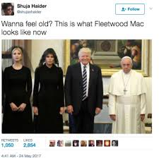 Just Joking Meme - did the pope just joke about donald trump s weight midland