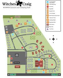 Stirling Scotland Map Witches Craig Caravan And Camping Park Stirling