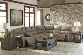 taupe power reclining sectional