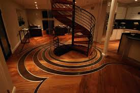 wood flooring with inlay floor pattern design idea