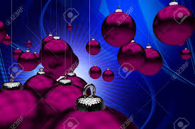 Theme Ornaments Theme Purple Ornaments On Cool Abstract Blue