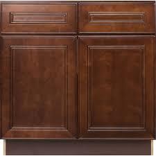 36 inch sink base cabinet in leo saddle with 2 false drawers u0026 2