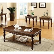 furniture of america u0027macelli u0027 3 piece cherry finished traditional