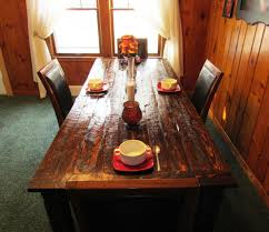 Distressed Black Dining Table Dark Walnut Reclaimed Barn Wood Dining Table Tabula Rasa
