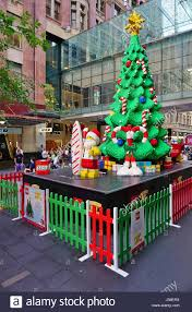 Christmas Decorations Cheap Sydney by View Of Christmas Decorations In Sydney Australia Stock Photo