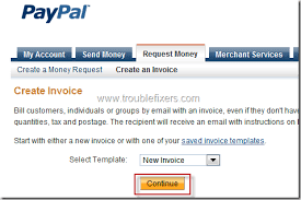 how to raise a paypal invoice
