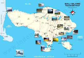 touristic map of bali weather forecast and bali map info bali island map