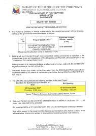 to bid invitation to bid for the repair of driveway philippine embassy