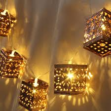 retro square lantern string lights 20 led lantern indoor u0026outdoor