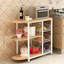 kitchen island shelves magshion kitchen island dining baker cabinet basket storage