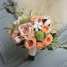 Artificial Flower Bouquets Aliexpress Com Buy Modabelle Orange U0026 Coral Bridal Bouquet