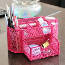 Pink Desk Organizers And Accessories Pen Holder For Desk Desk Design Ideas