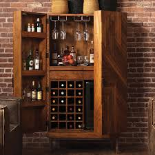 Metal Bar Cabinet Cheverny Metal Inlay Bar Cabinet Wine Enthusiast