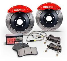 bmw rotors stoptech bbk 07 09 bmw 335i 335d front 355x32 slotted 2pc rotors