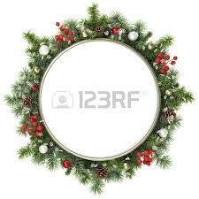Decoration From Christmas by December Background From Christmas Tree Branches Stock Photo