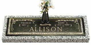 Flat Headstones With Vase Bronze Companion Markers Headstone Cemetery Monument Marker