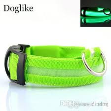 Flashing LED Dog Collar For Pet Christmas Glowing Plain Nylon