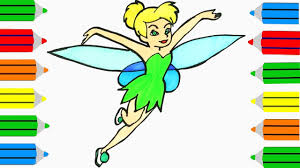 tinkerbell coloring page how to draw tinkerbell drawing disney
