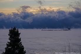 lake superior sea smoke sea smoke ship sunrise over lake superior 365 days of birds