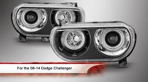 Dodge Challenger Xenon Headlights - 08 14 dodge challenger ccfl halo projector headlights youtube