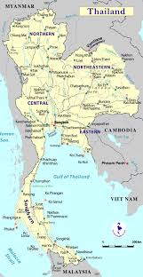 map of thailand map of thailand showing provinces and city distances