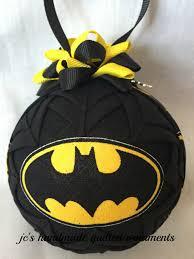 batman quilted ornament made from batman fabric batman