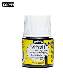 pebeo vitrail transparent glass paint 45ml color for glass in